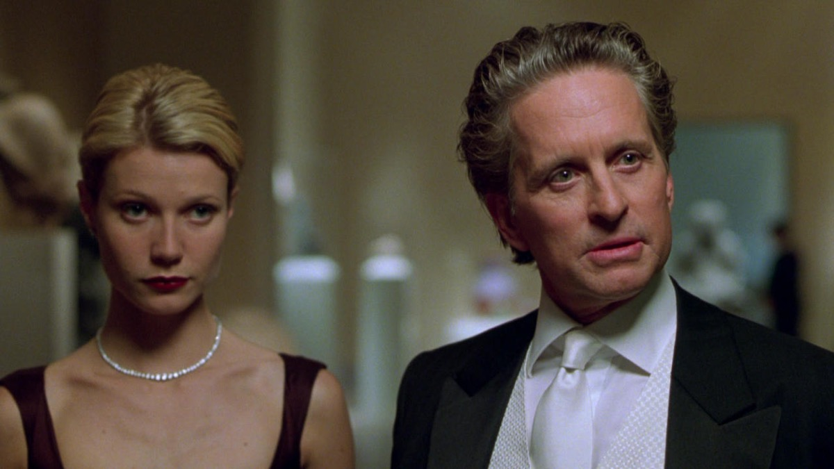 Gwyneth Paltrow and Michael Douglas in A Perfect Murder