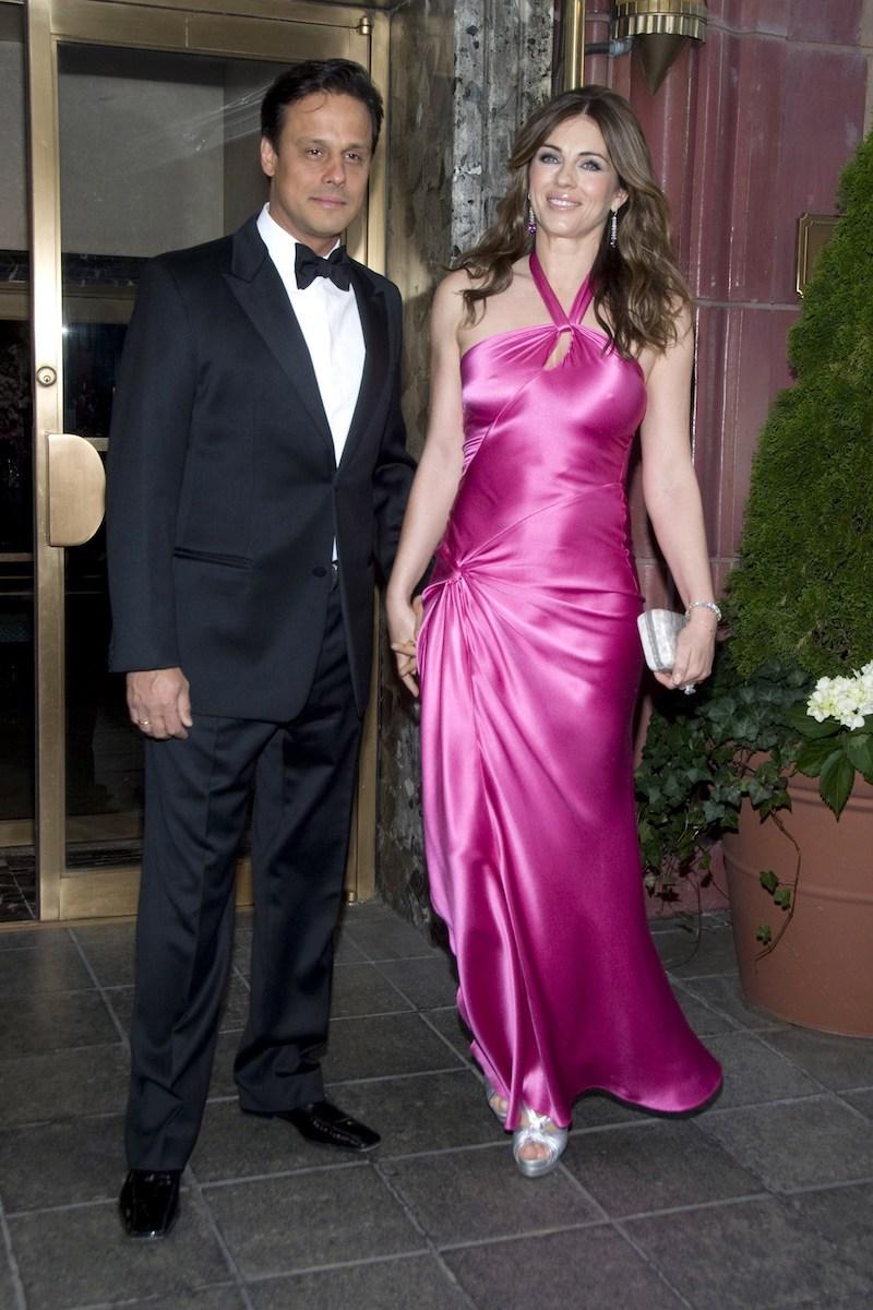Arun Nayar and Elizabeth Hurley in New York City in 2009