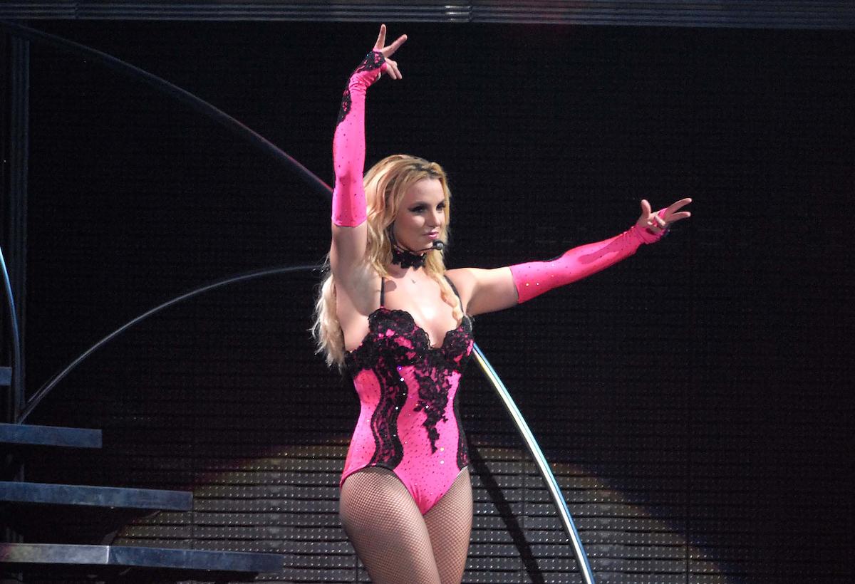 Britney Spears performing in Rio de Janeiro, Brazil in 2011
