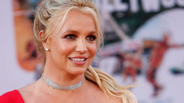 """Britney Spears at the premiere of """"Once Upon a Time in Hollywood"""" in 2019"""