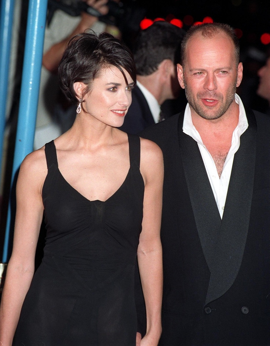 Demi Moore and Bruce Willis in 1997