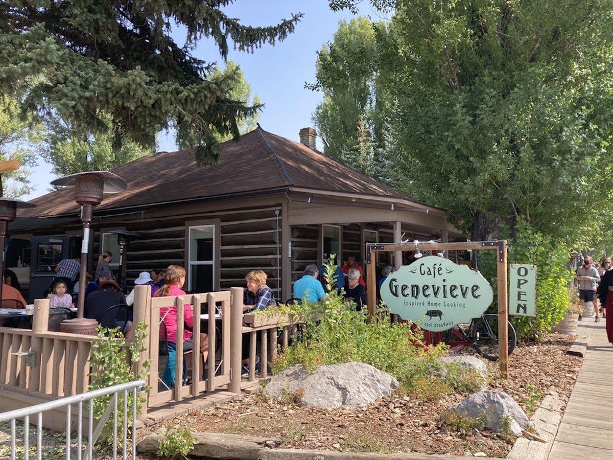 Cafe Genevieve, best outdoor bar in Wyoming