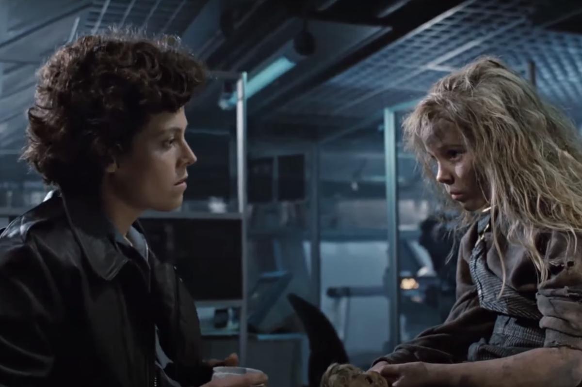 "Sigourney Weaver and Carrie Henn in ""Aliens"""