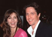 """Elizabeth Hurley and Hugh Grant at the premiere of """"Mickey Blue Eyes"""" in 1999"""