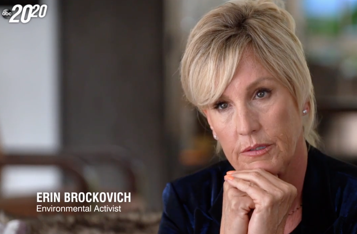 """Erin Brockovich on the """"20/20"""" special"""