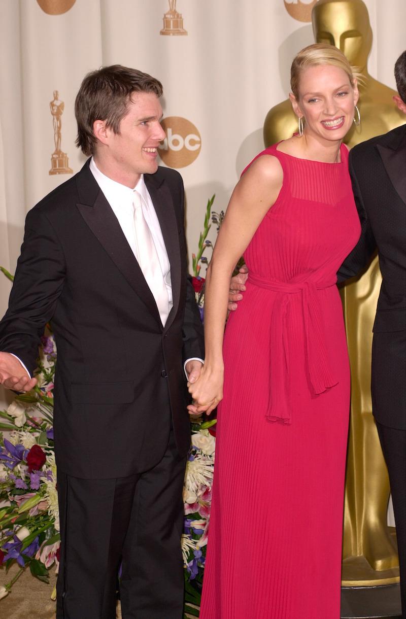 Ethan Hawke and Uma Thurman at the 2000 Oscars