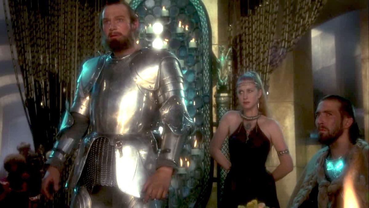 Liam Neeson and Helen Mirren in Excalibur