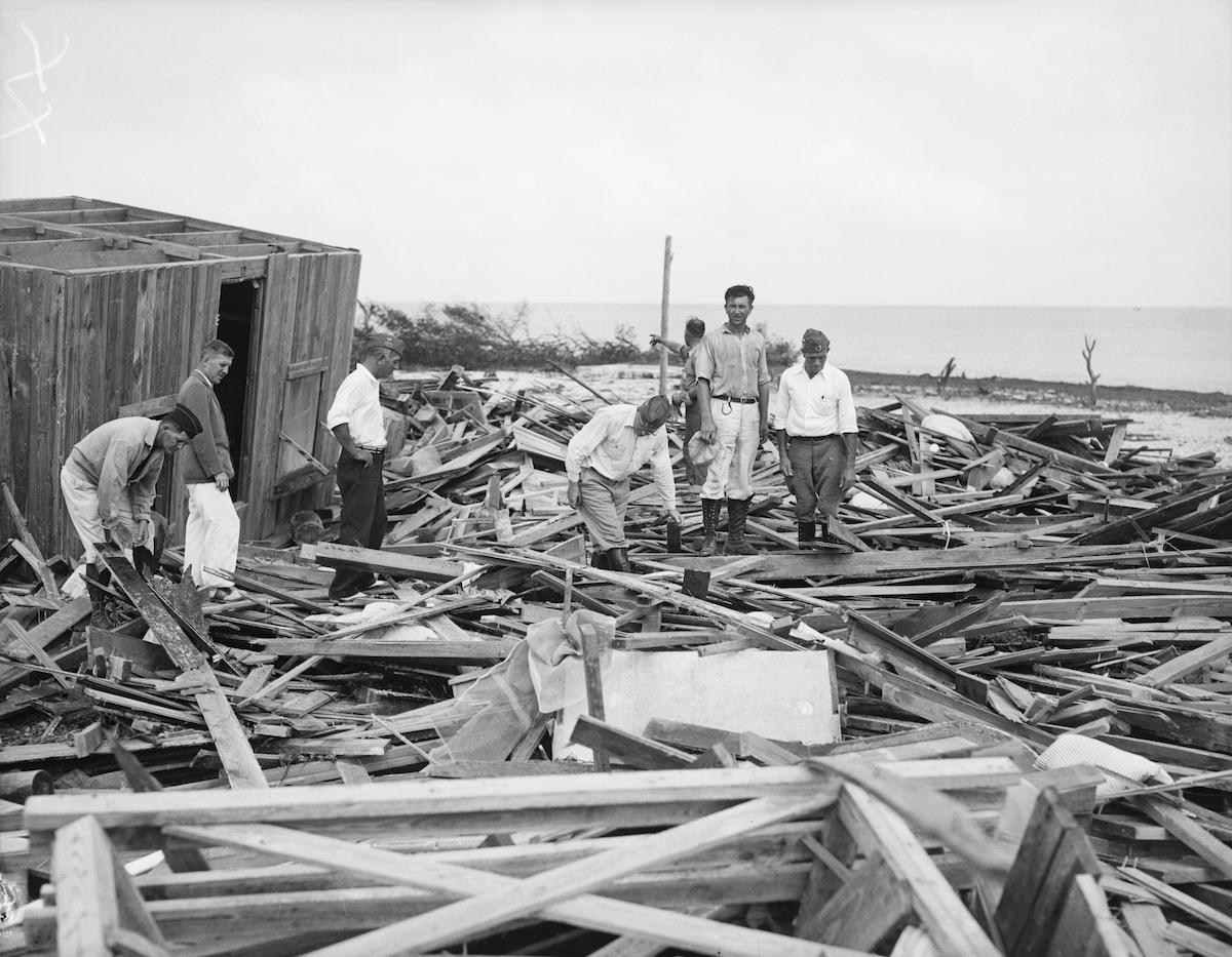 Aftermath of 1935 Florida Keys Hurricane