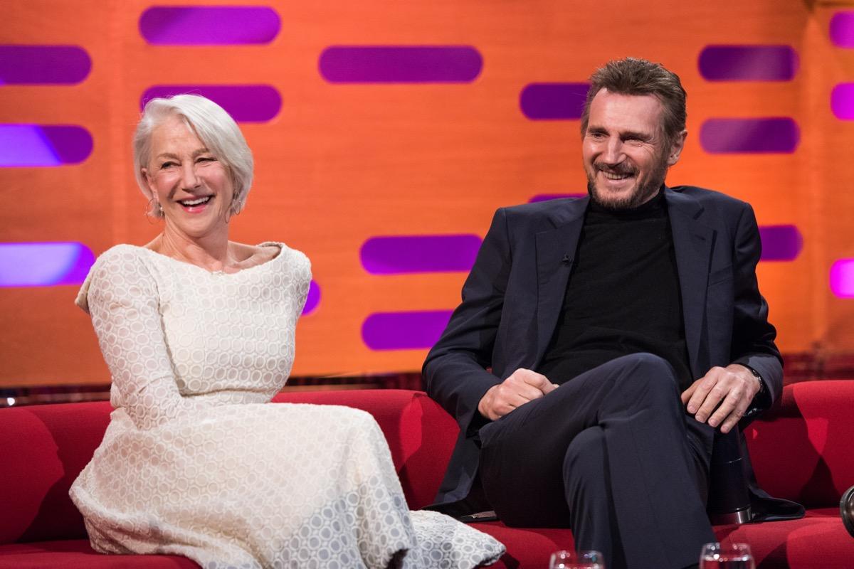 Helen Mirren and Liam Neeson in 2018