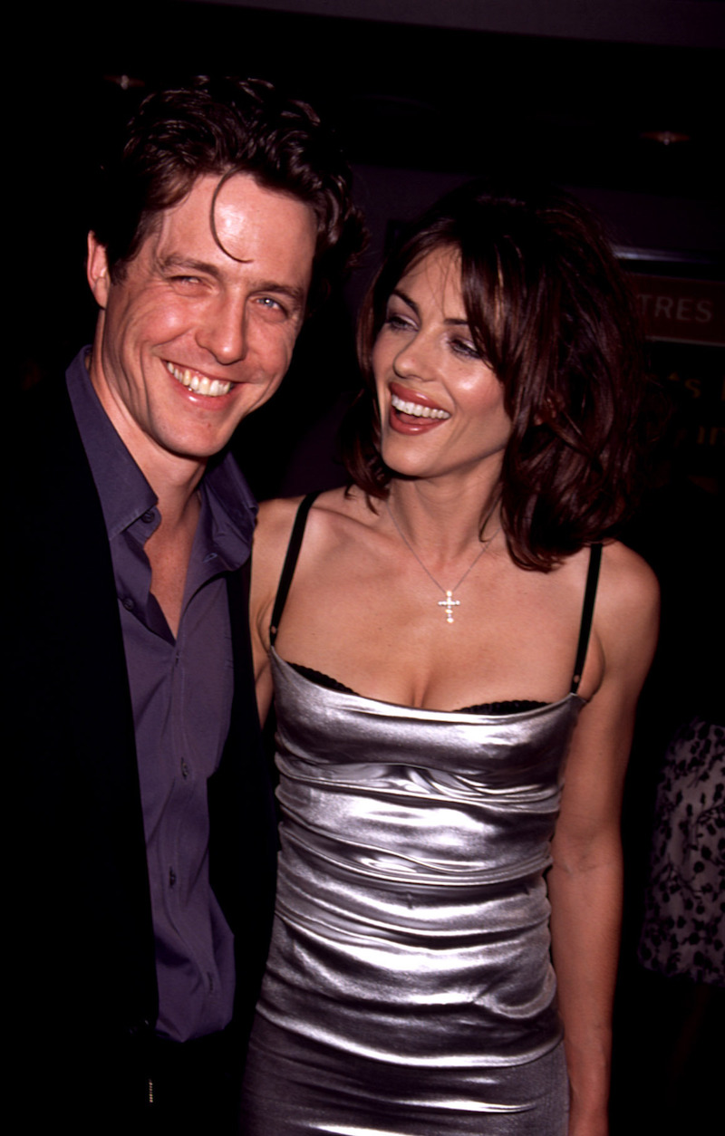 """Hugh Grant and Elizabeth Hurley at the premiere of """"Permanent Midnight"""" in 1998"""