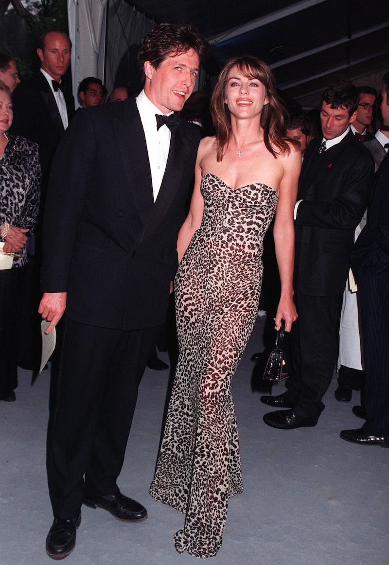 Hugh Grant and Elizabeth Hurley at the 1997 Cannes Film Festival