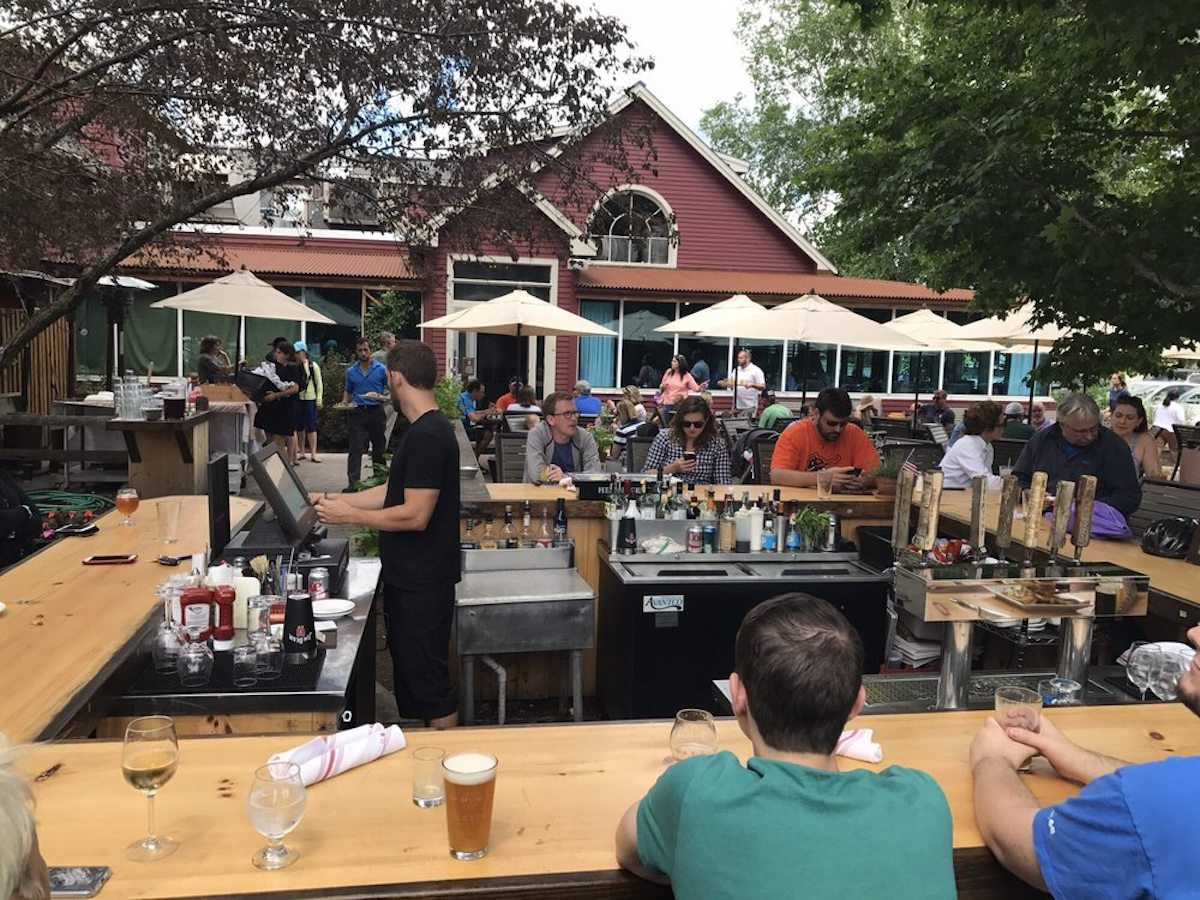 Idletyme Brewing Company, best outdoor bar in Vermont