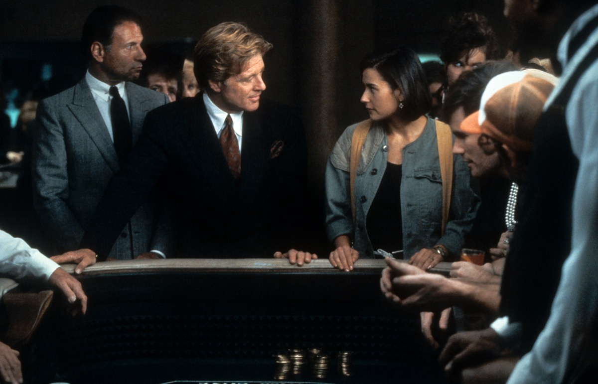 Robert Redford and Demi Moore in Indecent Proposal