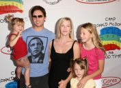 Peter Facinelli, Jennie Garth, and their daughters at Camp Ronald McDonald's Family Halloween Carnival in 2008