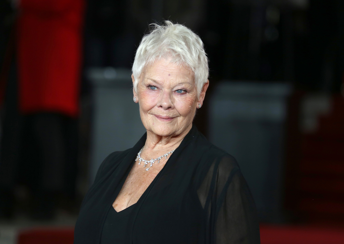 """Judi Dench at the premiere of """"Murder on the Orient Express"""" in 2017"""