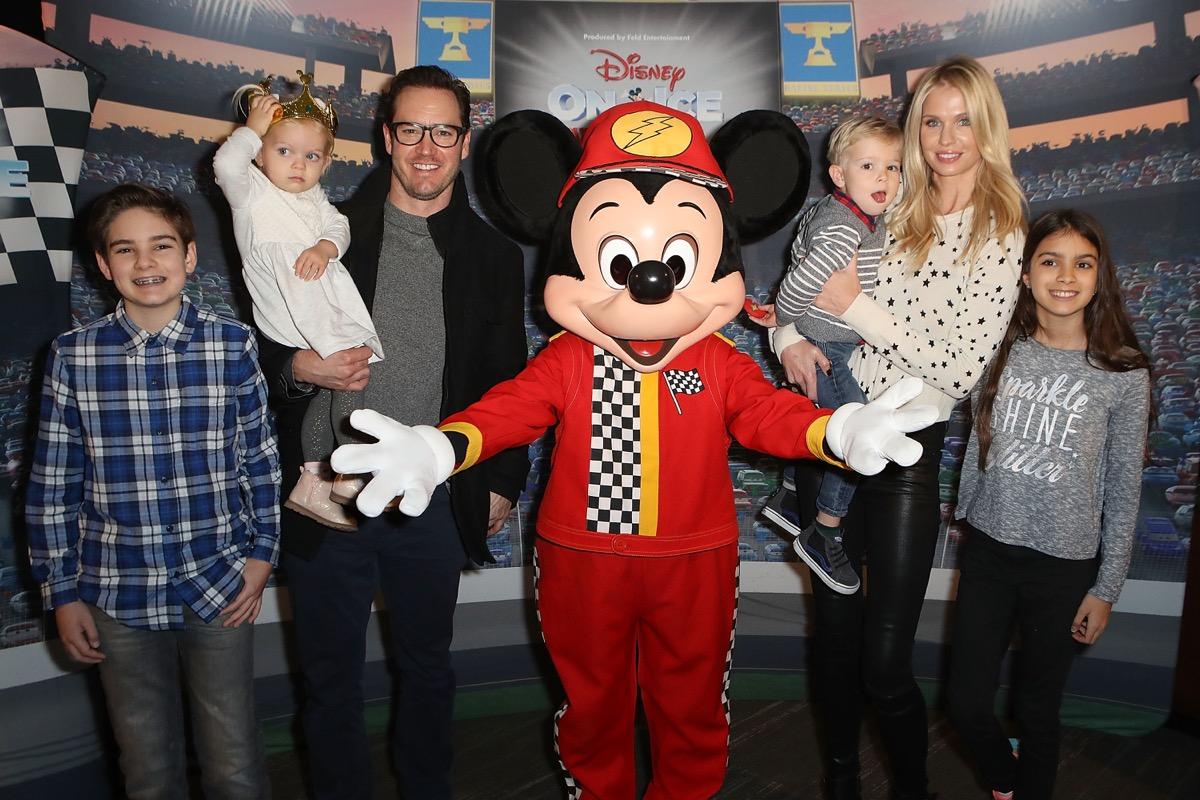 Mark-Paul Gosselaar and family at Disney