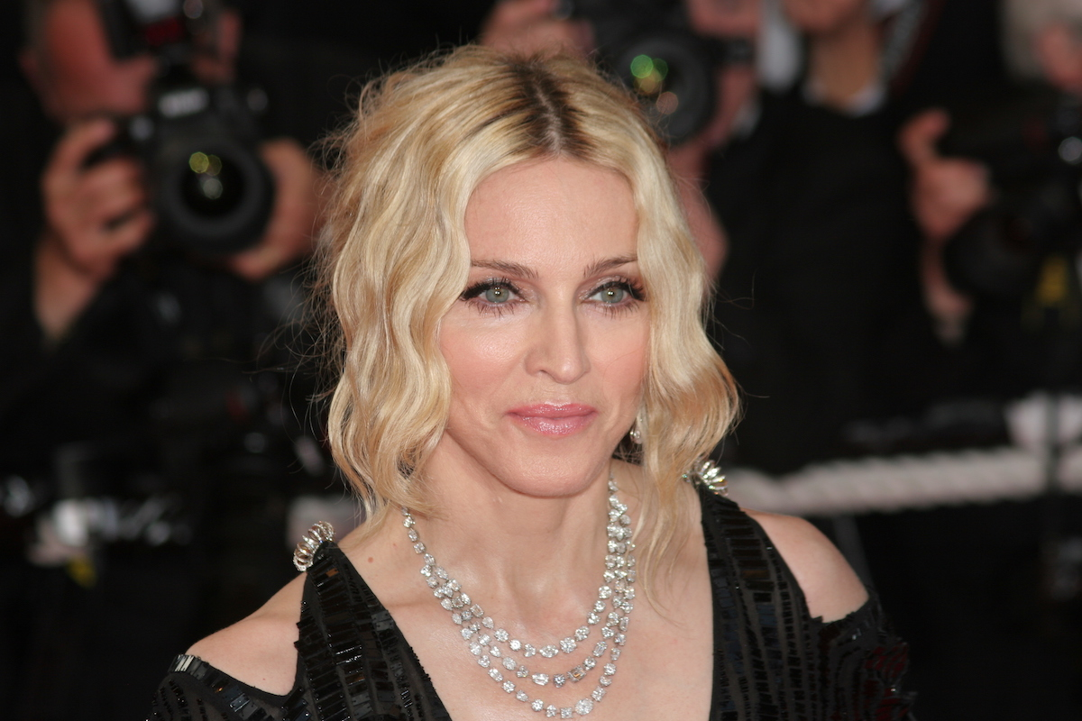 Madonna at the Cannes Film Festival in 2008