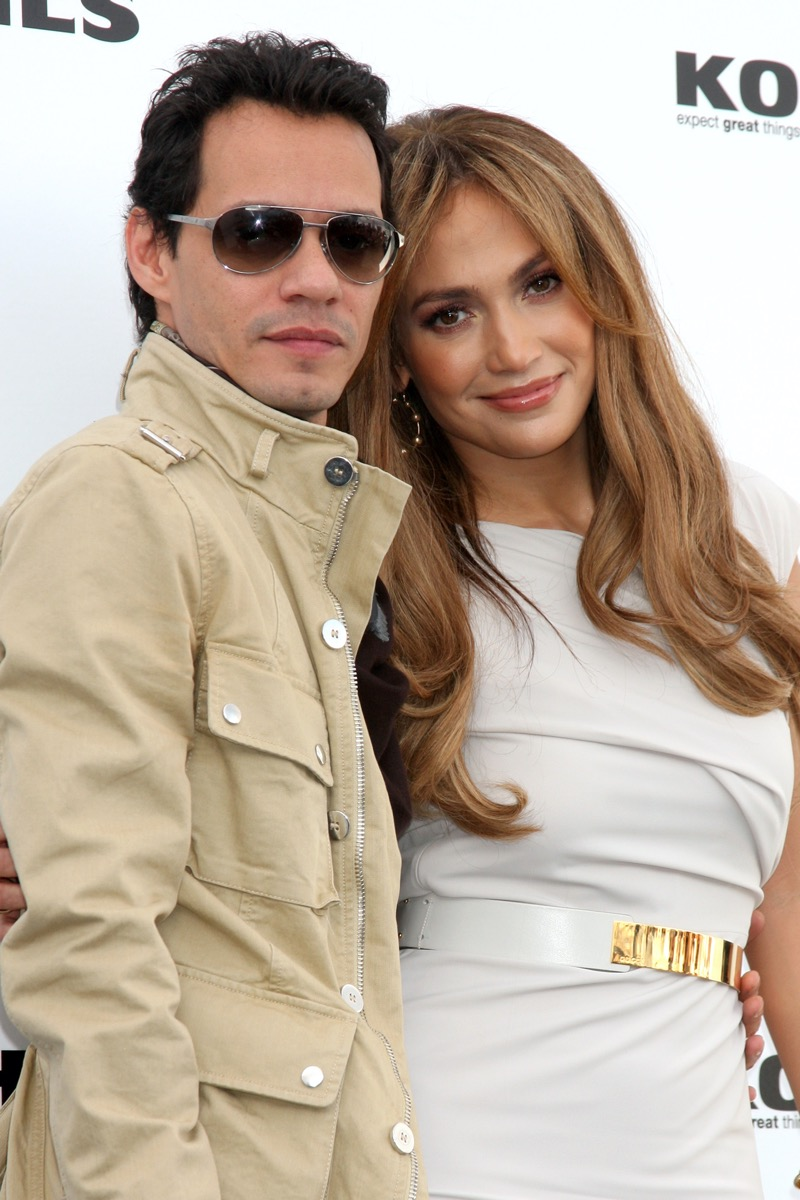 Marc Anthony and Jennifer Lopez in 2010
