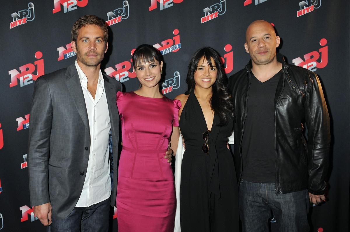 Paul Walker, Jordana Brewster, Michelle Rodriguez, and Vin Diesel in 2008