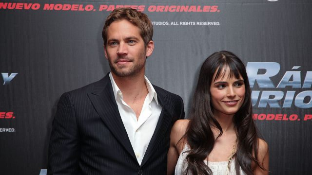 """Paul Walker and Jordana Brewster at the """"Fast & Furious"""" premiere in Mexico City in 2009"""