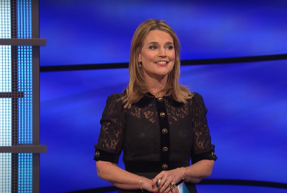 """Savannah Guthrie hosting """"Jeopardy!"""""""