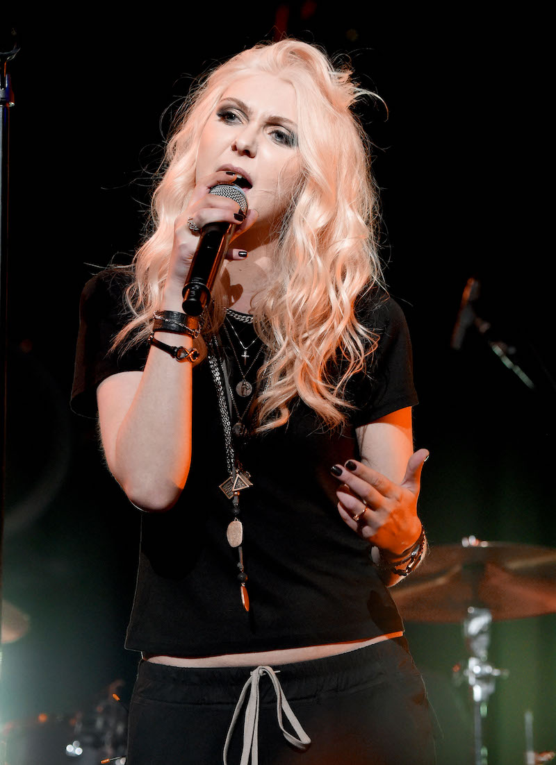 Taylor Momsen performing with The Pretty Reckless during I Am The Highway: A Tribute To Chris Cornell in 2019