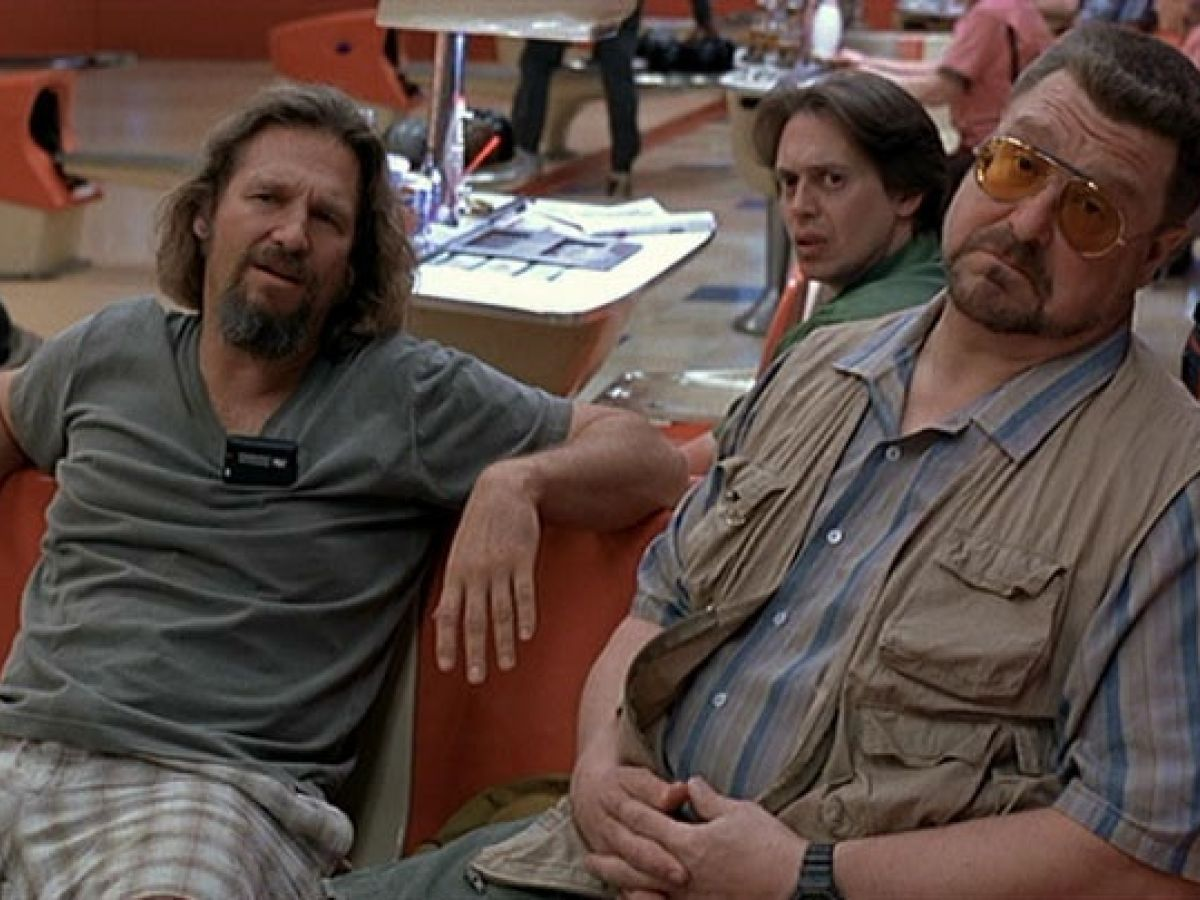 Jeff Bridges, Steve Buscemi, and John Goodman in The Big Lebowski