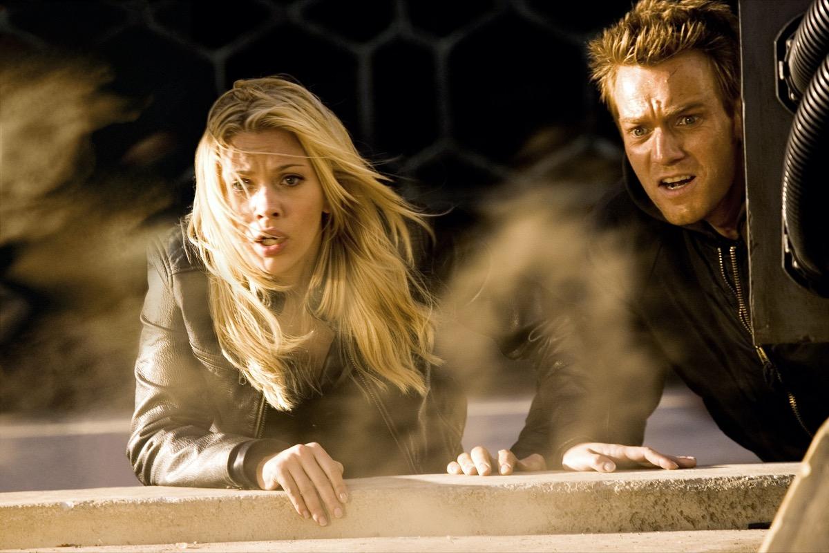 Scarlett Johansson and Ewan McGregor in The Island