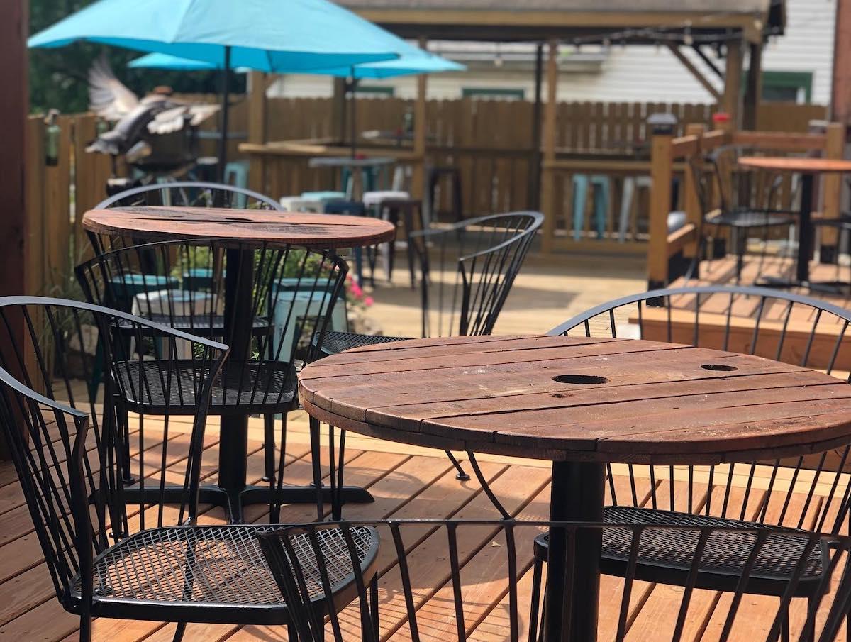 The Mockingbird Lounge, the best outdoor bar in Kansas