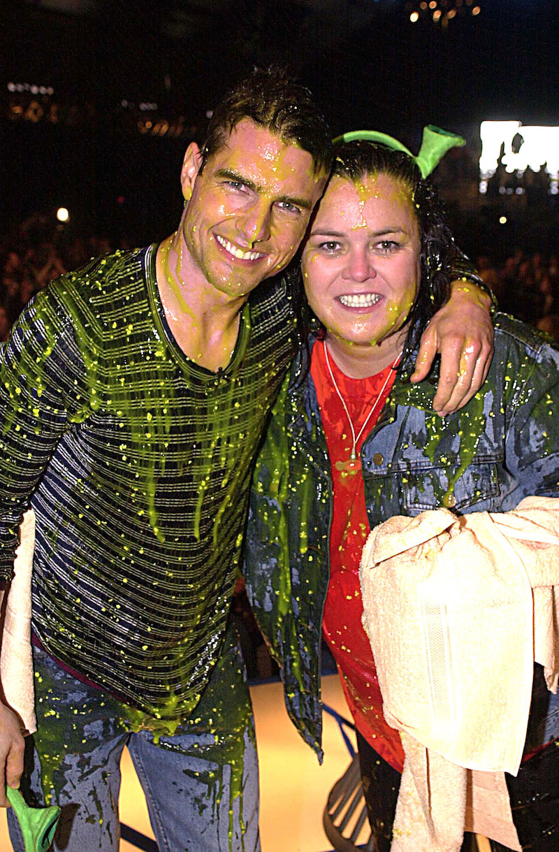 Tom Cruise and Rosie O'Donnell at the Kids Choice Awards in 2001
