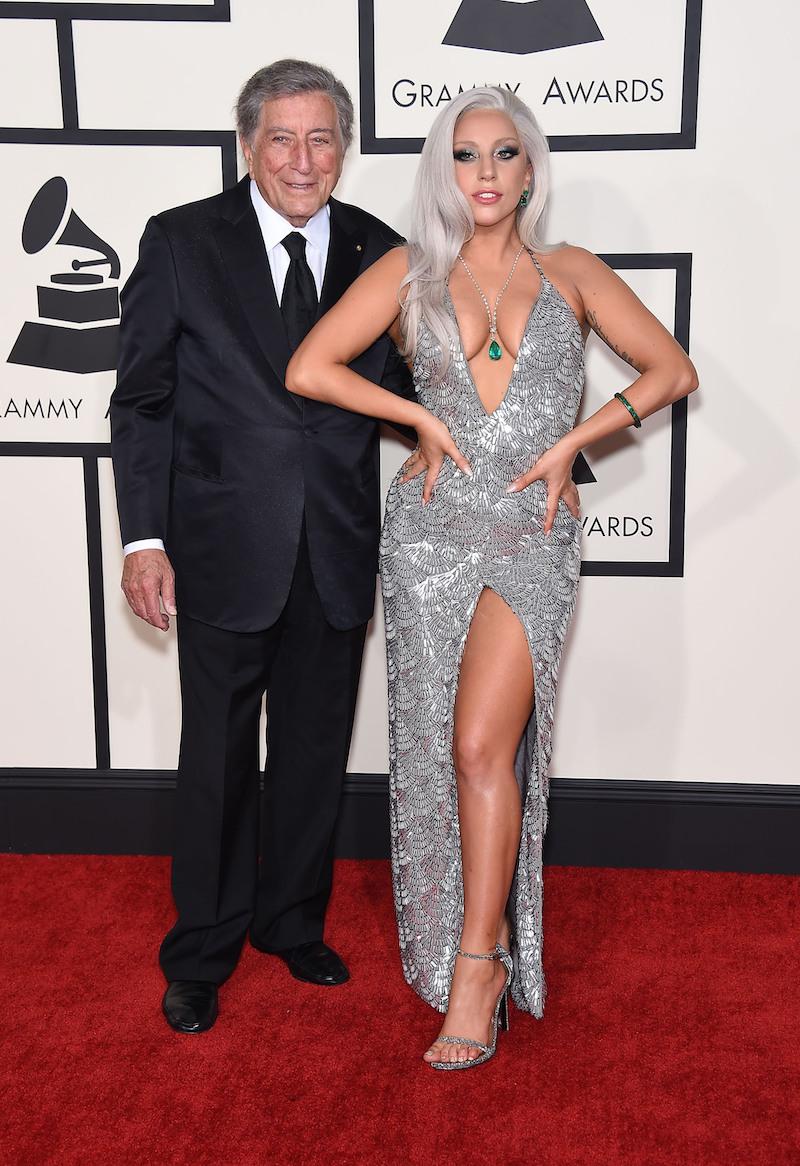 Tony Bennett and Lady Gaga at the 2015 Grammy Awards
