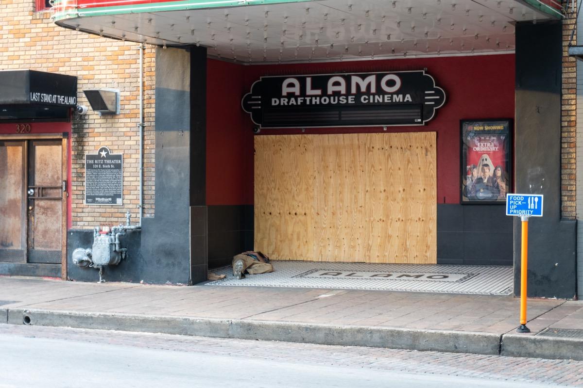 a closed alamo drafthouse cinema
