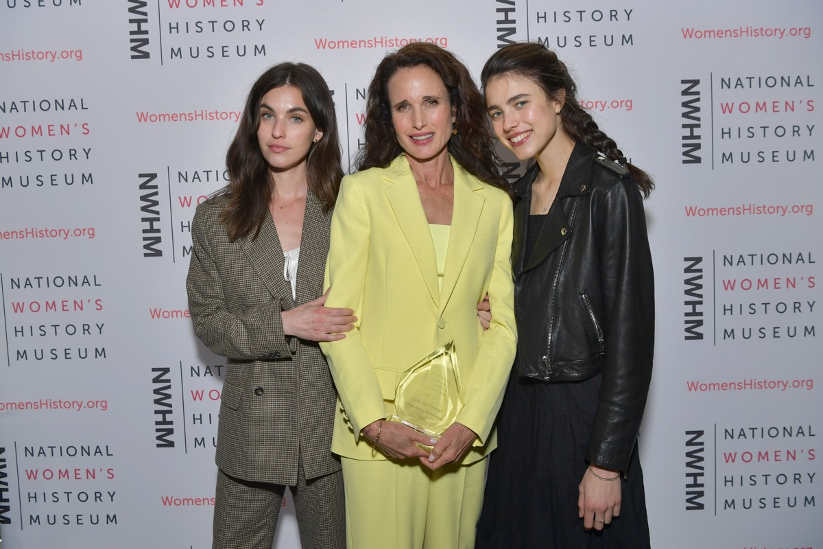Andie MacDowell, Rainey Qualley, and Margaret Qualley 2021