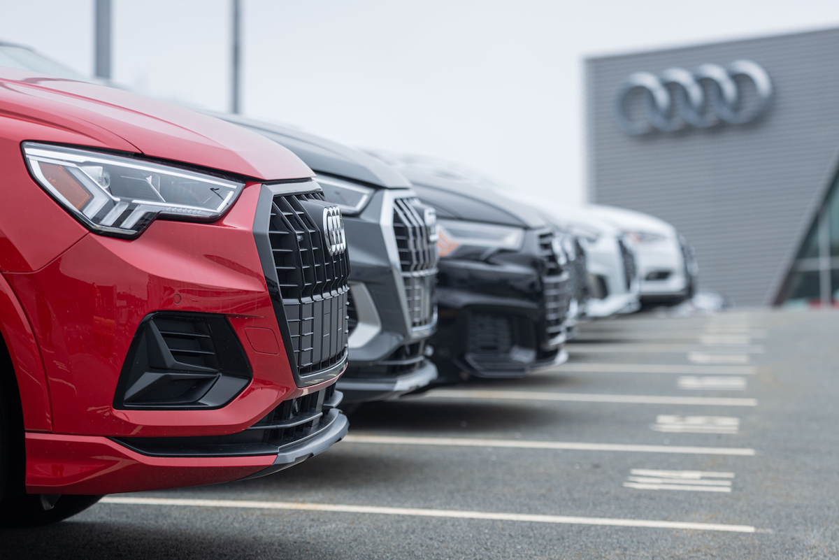 New 2021 Audi models at Audi dealership