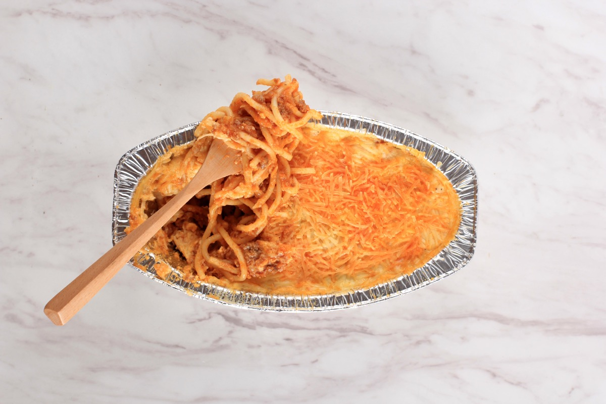 baked spaghetti dish