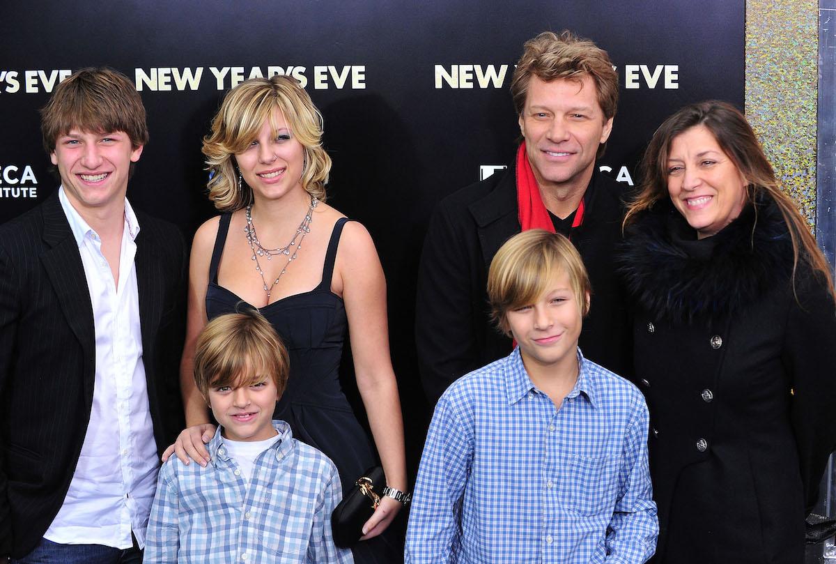 Jesse Bon Jovi, Romeo Jon Bon Jovi, Stephanie Rose Bon Jovi, Jacob Hurley, Jon Bon Jovi and Dorothea Hurley in 2011