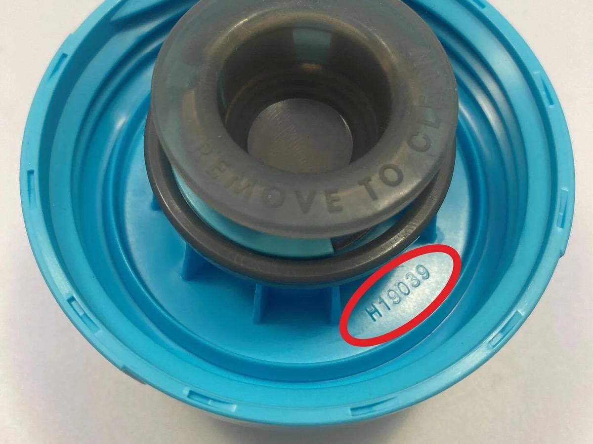 camelbak water bottle cap with code circled