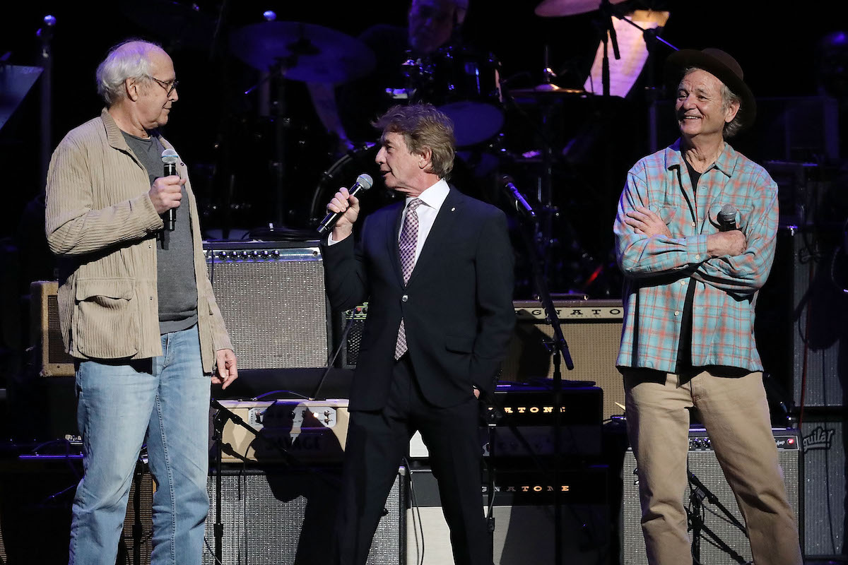 Chevy Chase, Martin Short, and Bill Murray at Beacon Theatre on March 7, 2019 in New York City.
