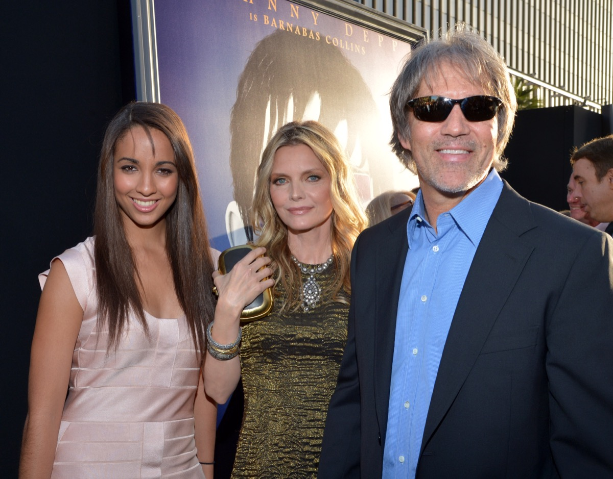Michelle Pfeiffer, David Kelley, and their daughter Claudia Pfeiffer