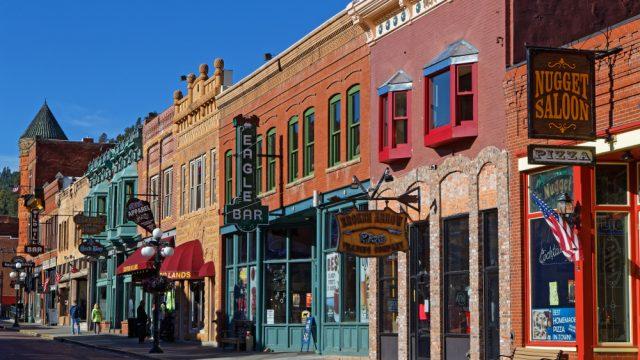 A street in Deadwood, South Dakota
