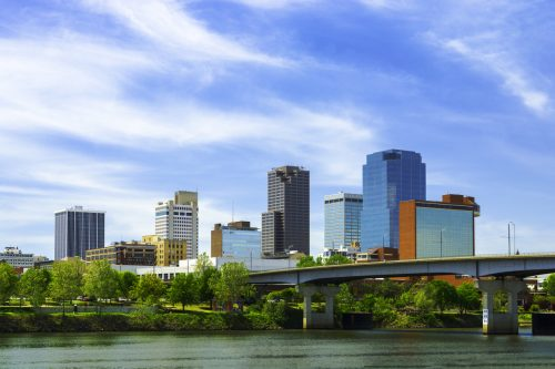 The skyline of Little Rock, Arkansas
