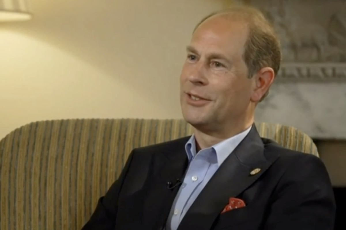 Prince Edward on BBC interview on June 10, 2021