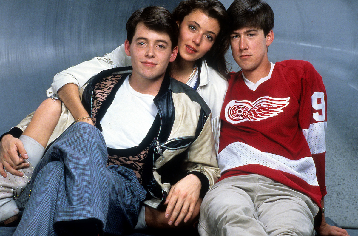Matthew Broderick, Mia Sara, and Alan Ruck publicity portrait for the film 'Ferris Bueller's Day Off', 1986.