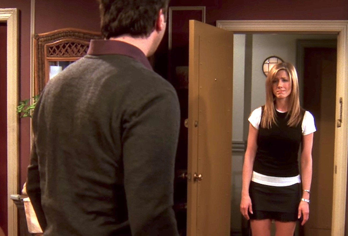 """David Schwimmer and Jennifer Aniston in the """"Friends"""" finale"""