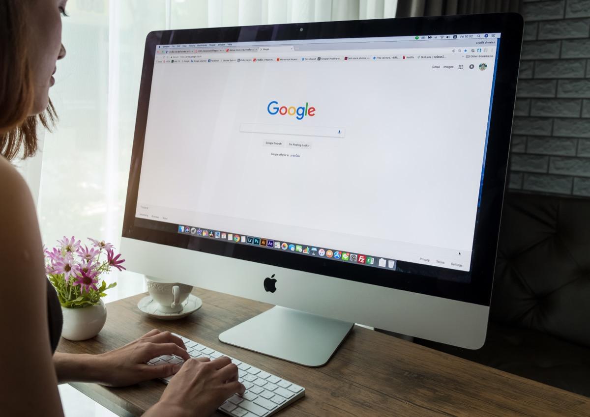 google search platform on computer