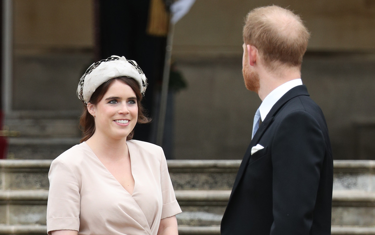 Princess Eugenie and the Duke of Sussex during a Royal Garden Party at Buckingham Palace in London.