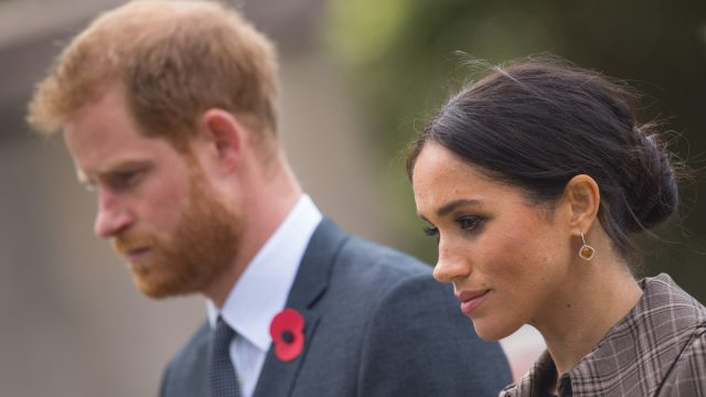 Prince Harry, Duke of Sussex and Meghan, Duchess of Sussex visit the newly unveiled UK war memorial and Pukeahu National War Memorial Park on October 28, 2018 in Wellington, New Zealand.