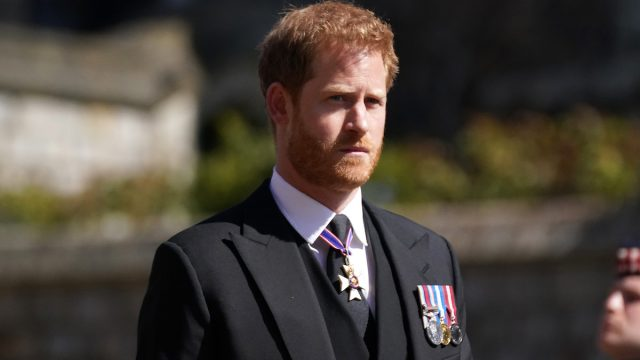 Prince Harry at The Funeral Of Prince Philip, Duke Of Edinburgh Is Held In Windsor