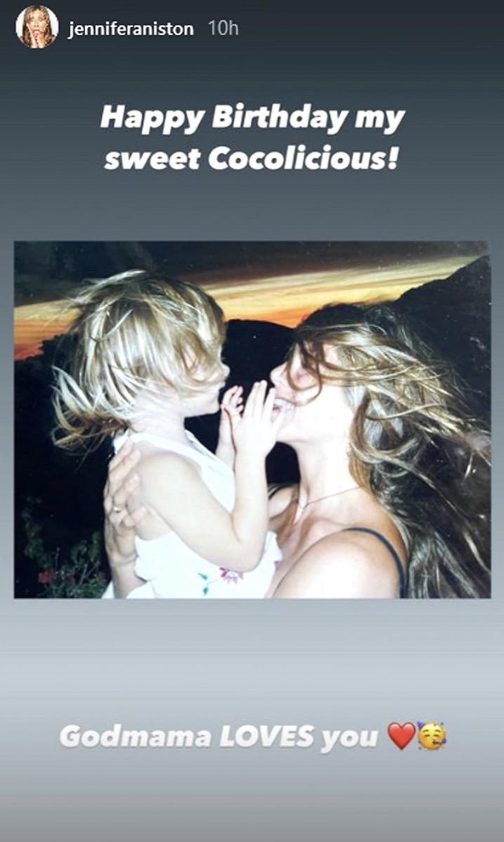 Jennifer Aniston and Coco Arquette