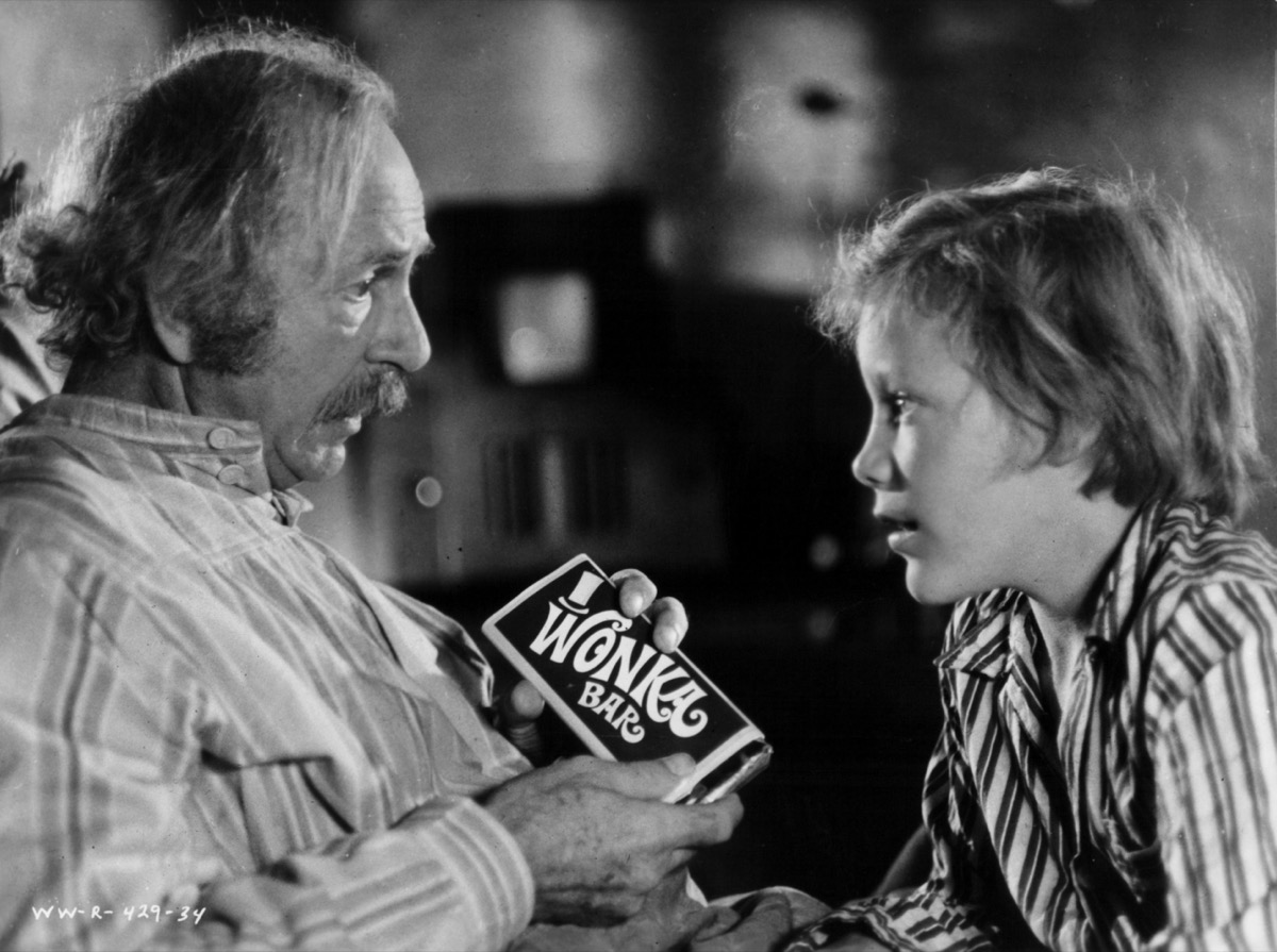 """Jack Albertson and Peter Ostrum in """"Willy Wonk and The Chocolate Factory"""""""